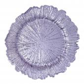"Plastic Reef Charger Plate 13"" - Lavender - 24 Pieces"