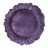 "Plastic Reef Charger Plate 13"" - Purple - 24 Pieces"