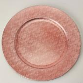 "Decostar™ Pixel Plastic Charger Plate 13"" - Rose Gold - 24 Pieces"