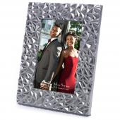 "Refined Silver Diamond Cut Frame - 4"" x 6"""