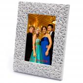 "Refined White Diamond Cut Frame - 4"" x 6"""