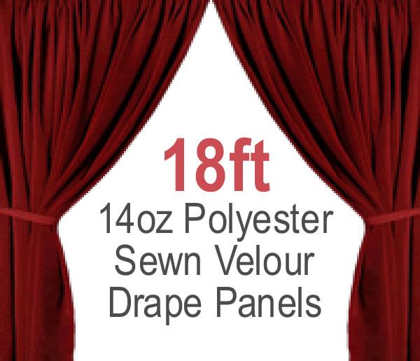 Sewn Drape Panel W/ 4 Rod Pockets