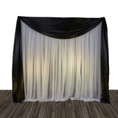 Economy 1 Panel Valance Backdrop 8ft Tall or 8ft-10ft Tall