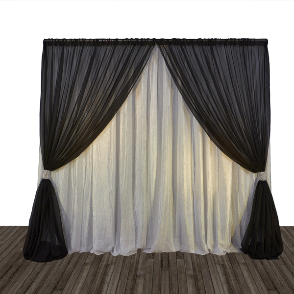 Economy 1 Panel 2 Tone Curtain Backdrop 8ft Tall Or 8ft 10ft Tall