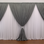 Premium Two Tone 2 Panel Backdrop - Height: 7-12ft