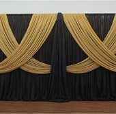 Premium Criss-Cross Curtain 2 Panel Backdrop - Height: 8-20ft
