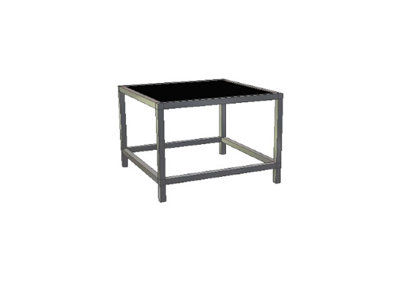 rediconnect 2 39 small square coffee table w extra support event decor direct north america 39 s. Black Bedroom Furniture Sets. Home Design Ideas