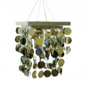 DecoStar™ 2-Tier PVC Silver Chandelier