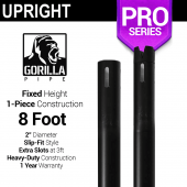 "Black Anodized Pro Series - 8ft Fixed 2"" Upright"