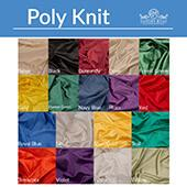 20ft Poly Knit Cloth Drape Panel w/ Sewn Rod Pocket (IFR) by Eastern Mills
