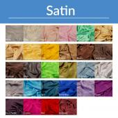 "*FR* 16ft Tall Satin Drape Panel by Eastern Mills (59"" Wide) w/ 4"" Sewn Rod Pocket in Choice of Colors"