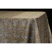 "Sleek Satin Tablecloth 90""x132"" Rectangular - Leopard Design"