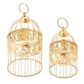 Metal Bird Cage - Gold