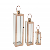DECOSTAR™ 3 Piece Metal Lanterns Set - Rose Gold