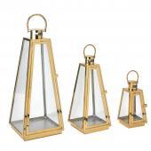 DECOSTAR™ 3 Piece Metal Lanterns Set - Gold