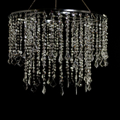 "DecoStar™ 24"" Diameter Multi Diamond Cut Chandelier - Silver"