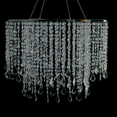"DecoStar™ 24"" Diameter Multi Diamond Cut Chandelier - Crystal"