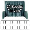 "Trade Show Booth Package #1 - 24 ""In Line"" Trade Show Booths"