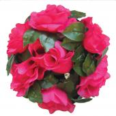 "Decostar™Large Flower Candle Rings 9"" - 48 Pieces - Fuchsia"