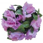 """Decostar™Large Flower Candle Rings 9"""" - 48 Pieces - Lavender"""