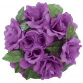 "Decostar™Large Flower Candle Rings 9"" - 48 Pieces - Purple"
