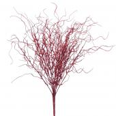 "Decostar™ Glittered Curly Willow Bunch 21"" - 24 Pieces - Red"