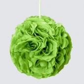 "Decostar™ Rose Silk Flower Pomander Kissing Ball 10""  - 12 Pieces - Apple Green"