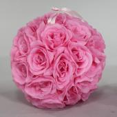 "Decostar™ Rose Silk Flower Pomander Kissing Ball 10""  - 12 Pieces - Pink"