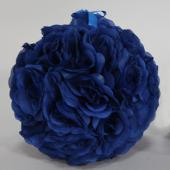 "Decostar™ Rose Silk Flower Pomander Kissing Ball 10""  - 12 Pieces - Royal Blue"