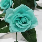 "Decostar™ Artificial Rose Garland 78"" - 12 Pieces - Aqua"