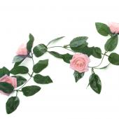 "Decostar™ Artificial Rose Garland 78"" - 12 Pieces - Blush"