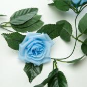"Decostar™ Artificial Rose Garland 78"" - 12 Pieces - Blue"