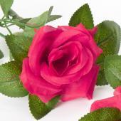 "Decostar™ Artificial Rose Garland 78"" - 12 Pieces - Fuchsia"