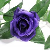 "Decostar™ Artificial Rose Garland 78"" - 12 Pieces - Purple"