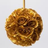 Decostar™ Rose Silk Flower Pomander Kissing Ball 12