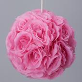 Decostar™ Rose Silk Flower Pomander Kissing Ball 12