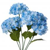 "Decostar™ Artificial Hydrangea Bouquet 22½""  - 24 Pieces - Blue"