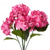 "Decostar™ Artificial Hydrangea Bouquet 22½""  - 24 Pieces - Fuchsia"