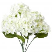 "Decostar™ Artificial Hydrangea Bouquet 22½""  - 24 Pieces - Ivory"