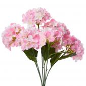 "Decostar™ Artificial Hydrangea Bouquet 22½""  - 24 Pieces - Pink"