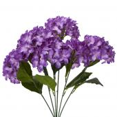 "Decostar™ Artificial Hydrangea Bouquet 22½""  - 24 Pieces - Purple"