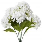 "Decostar™ Artificial Hydrangea Bouquet 22½""  - 24 Pieces - White"