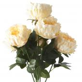 "Artificial Cabbage Rose 20"" - 24 Bunches - Champagne"