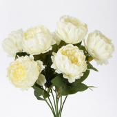 "Decostar™ Artificial Cabbage Rose 20"" - 24 Pieces - Ivory"