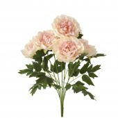Artificial Deluxe Peony Bush - 12 Pieces - Blush