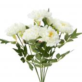 "Decostar™ Artificial Deluxe Peony Bush 20"" - 12 Pieces - Cream"