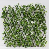 Decostar™ Accordian Ivy Lattice Fence with Flowers 8'