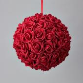 "Decostar™ Foam Rose Ball 12""  - 6 Pieces - Red"