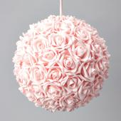 "Decostar™ Foam Rose Ball 14""  - 4 Pieces - Pink"