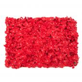 "Decostar™ Artificial Flower Mat 24""  - 12 Pieces - Red"